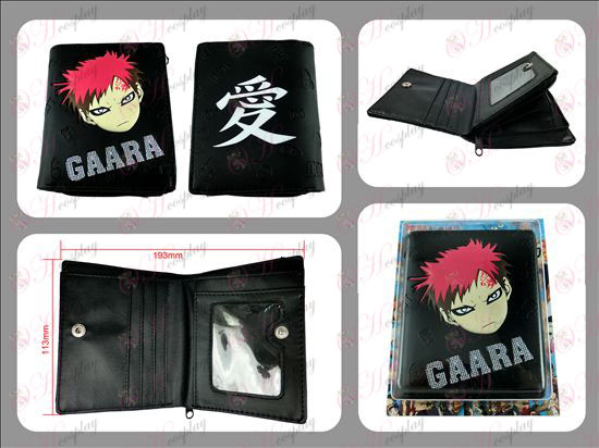 Gaara short paragraph wallet embossed with zipper