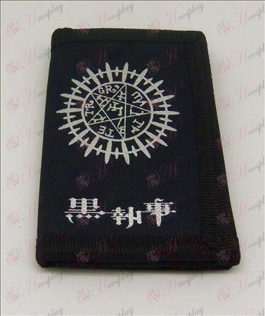 Canvas cartera (Negro Accesorios mayordomo)