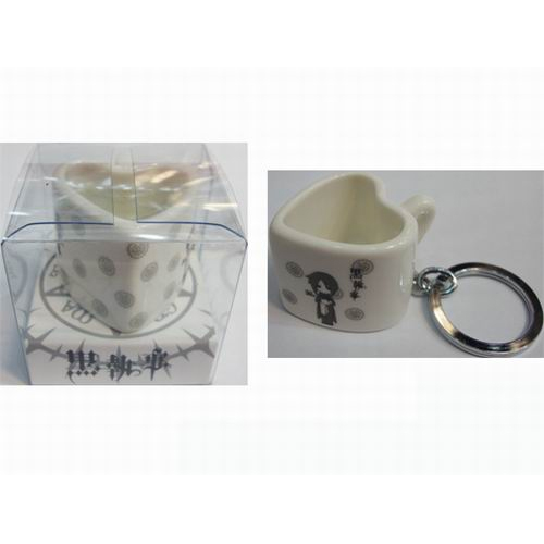 Black Butler Accessories Heart Shaped Ceramic Cup Keychain