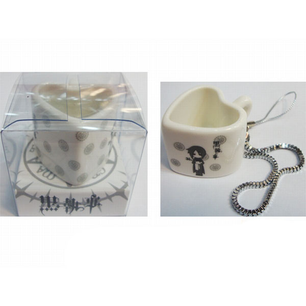 Black Butler Accessories bag pendant heart-shaped ceramic cup