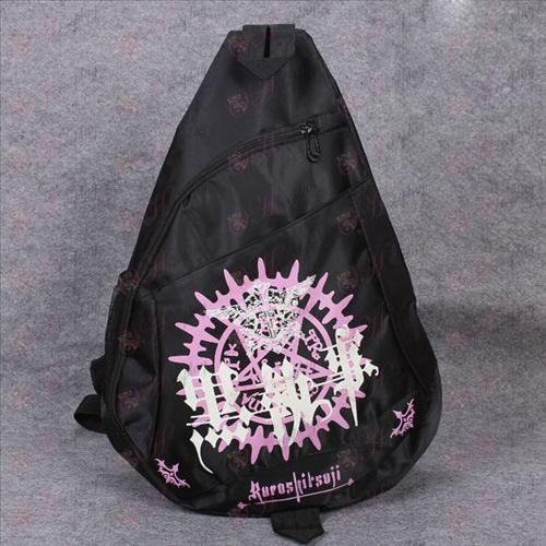 Black Butler Accessories Compact Oxford cloth triangle logo tote