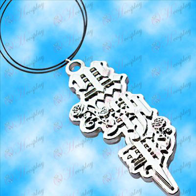 Black Butler Accessories theme necklace (white)