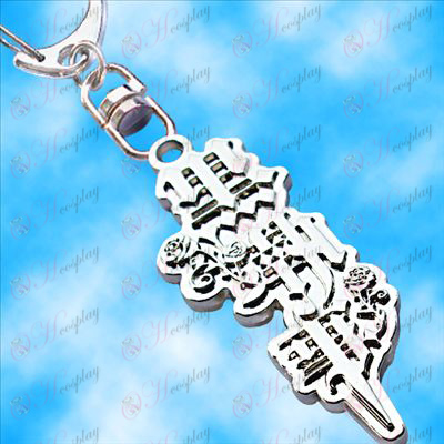 Black Butler Accessories-topic flag hanging buckle (white)