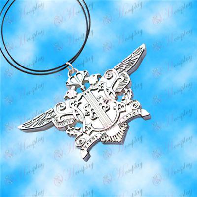Black Butler Tilbehør-Eagle Necklace (hvid)