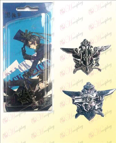 Black Butler Accessories eagle flag brooch