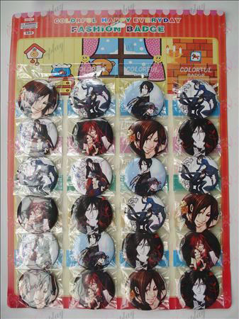 Black Butler Accessories Brooches (24 / plate) 5.8cm