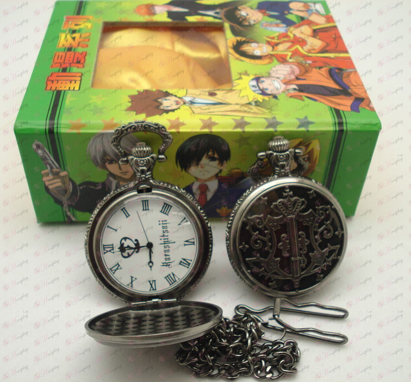 Black Butler Tilbehør Pocket Watch + Card