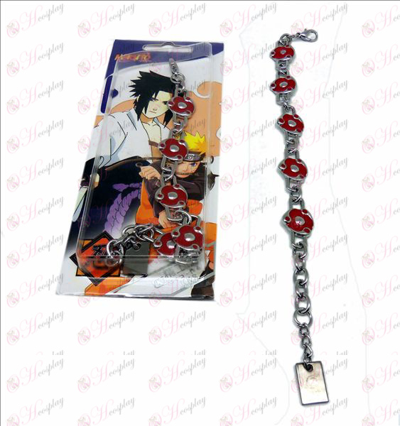 D Naruto écrire bracelet en métal des yeux ronds