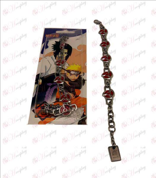 D Naruto kaléidoscope écrire bracelet en métal des yeux ronds