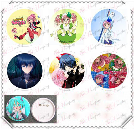 6 mounted 75MM light film badge-Shugo Chara! Accessories