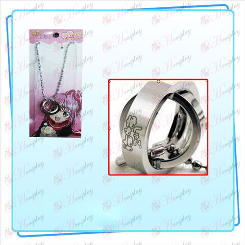 Shugo Chara! Accessories bicyclic ring necklace card installed (silver