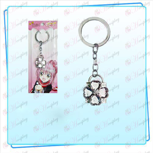 Shugo Chara! Accessories Lock key ring (silver lock transparent diamond)