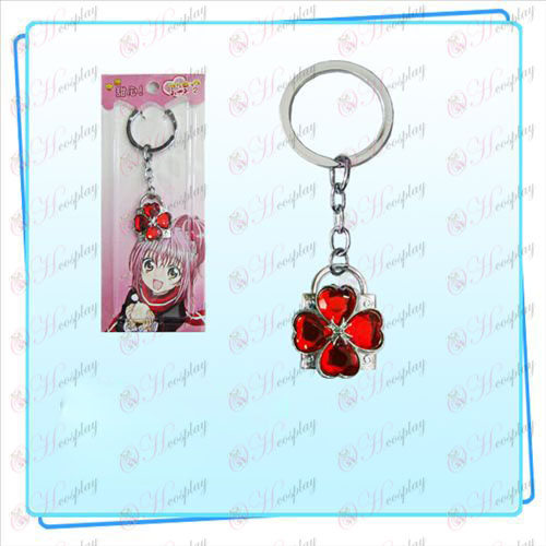 Shugo Chara! Accessories Lock key ring (silver lock red diamond)