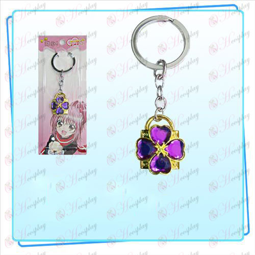 Shugo Chara! Accessories Lock key ring (golden locks purple diamond)