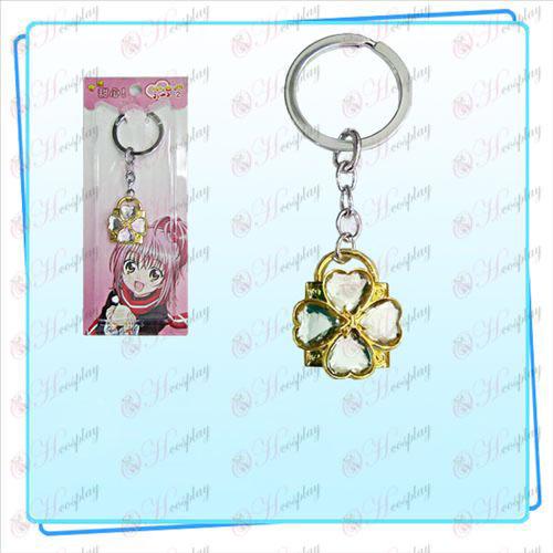 Shugo Chara! Tilbehør Lås nøglering (gyldne lokker transparent diamant)