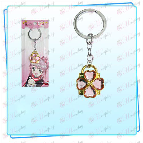 Shugo Chara! Accessories Lock key ring (golden locks Pink Diamond)