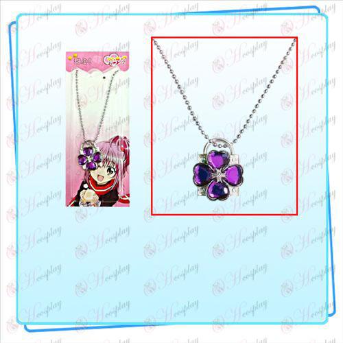 Shugo Chara! Accessoires collier de serrure (serrure d'argent diamant pourpre)