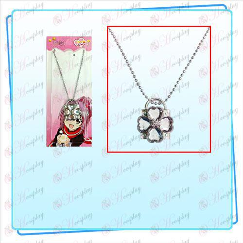 Shugo Chara! Accessoires collier de serrure (serrure d'argent transparent diamant)