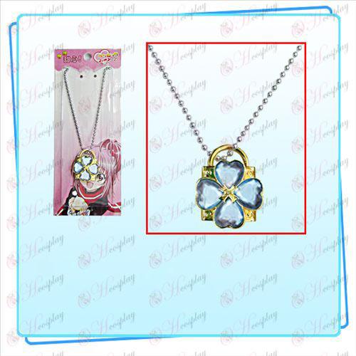 Shugo Chara! Acessórios colar lock (trava de ouro diamante azul)
