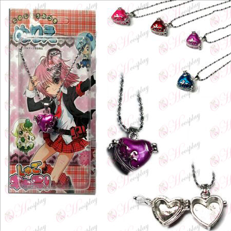 Shugo Chara! Kiegészítők lila szív alakú medált nyaklánc