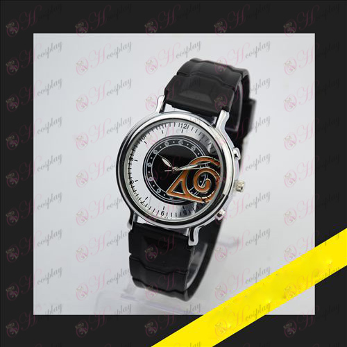 Embossed skeleton watch - Naruto konoha mark