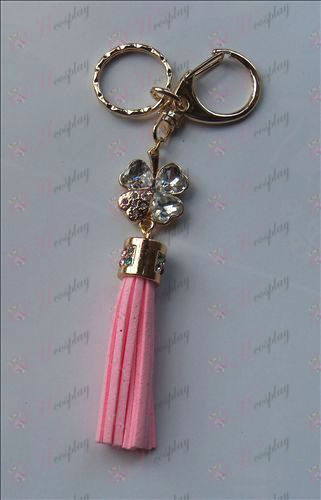 Shugo_Chara! اكسسوارات الماس الأبيض سلسلة المفاتيح (وردي)