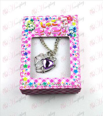 Shugo Chara! Tillbehör Heart Necklace (Purple)
