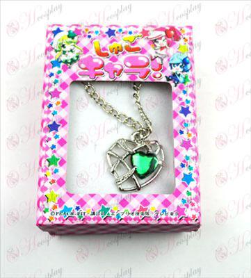 Shugo Chara! Dodatki Heart ogrlica (zelena)