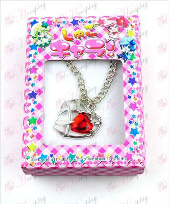 Shugo Chara! Dodatki Heart ogrlica (rdeča)