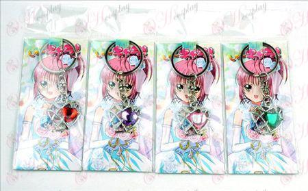 4 modeller Shugo Chara! Tilbehør Heart nøglering (a)