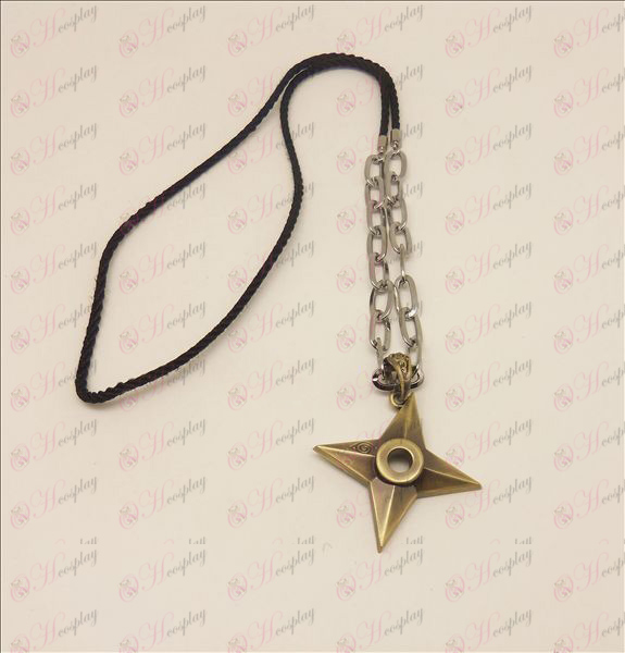 D Naruto darts punk hosszú nyaklánc (bronz színű)
