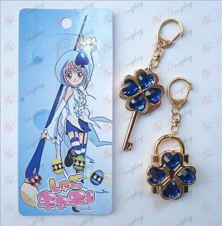 Shugo Chara! Tillbehör rörliga Par Keychain (blått)