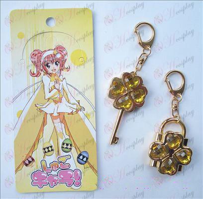 Shugo Chara! Tillbehör rörlig par nyckelring (gul)
