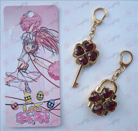 Shugo Chara Accessories Movable Couple Keychain Red