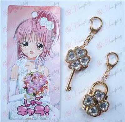 Shugo Chara! 부속품 이동 한 쌍 keychain (흰색)