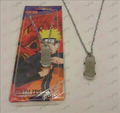 D Naruto écrire yeux ronds collier de planche à roulettes