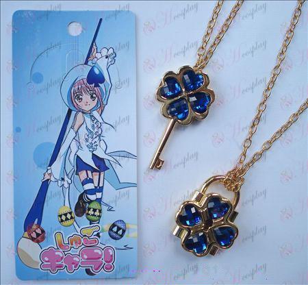 Shugo Chara! Zubehör beweglichen Halskette (blau)
