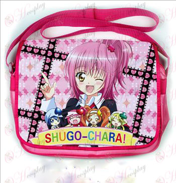 Shugo Chara! Acessórios coloridos couro satchel 500