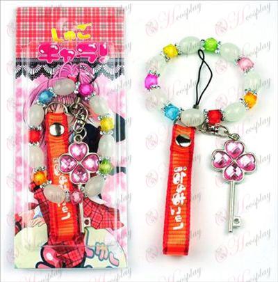 Blister card Shugo Chara! Accessories Machine Strap + Bracelet (key)