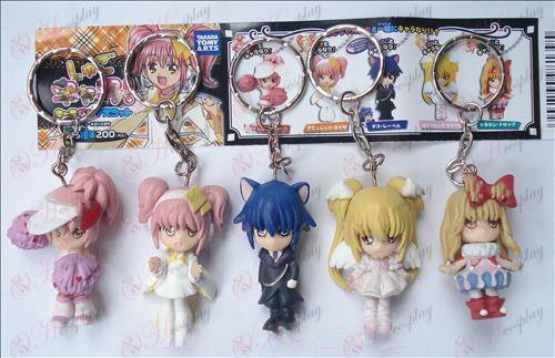 5 models Shugo Chara! Accessories Doll Keychain