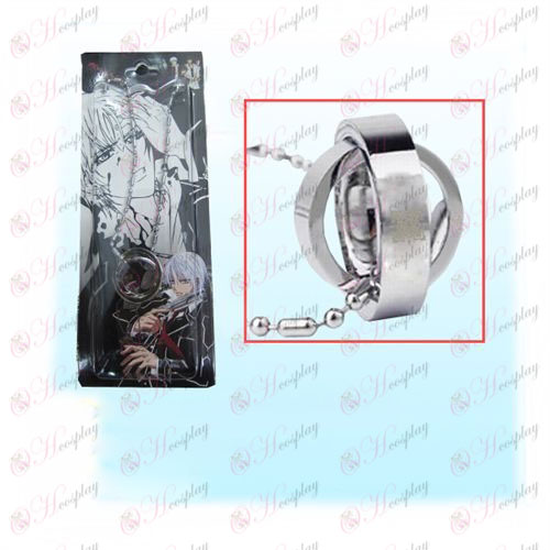 Vampire knight Accessoires logo dubbele ring ketting (kaart)