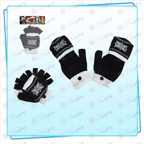 Vampire Knight Accesorios Guantes dobles (negro)