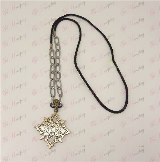 DVampire knight Accessories logo punk long necklace (bronze)
