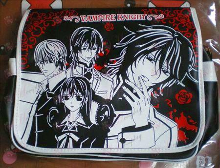 Vampire knight acessórios de couro mochila