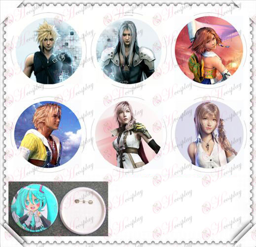 6 mounted 75MM light film badge-Final Fantasy Accessories