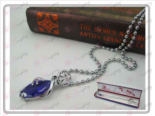 Final Fantasy Accessories Collector's Edition hardcover Necklace (Purple)