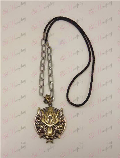 DFinal Fantasy Accessories Langtou flag punk long necklace (bronze)