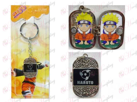Naruto write round eyes Photo Frame keychain