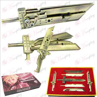 Final Fantasy Accessories Weapons seven sets (copper)
