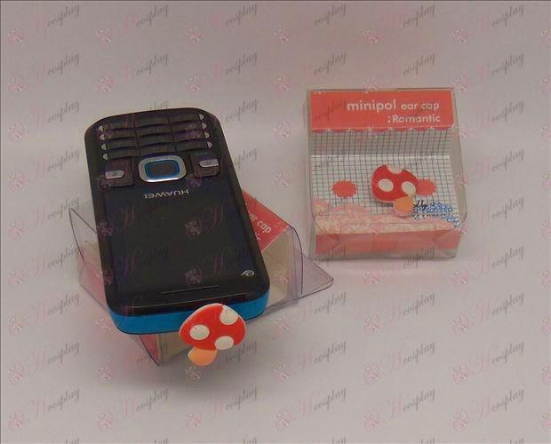 Teléfono celular enchufe del auricular (Super Mario Bros Accesorios setas)